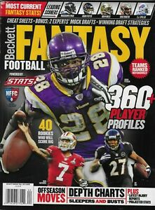 Beckett Fantasy Football Magazine Player Profiles Depth Charts Mock Drats 2013