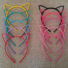 Plastic Cat Ears Headband Kid Adult Fancy Dress Hen Do Party Costume Alice Band
