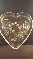 Serving Platter Glass Heart shaped