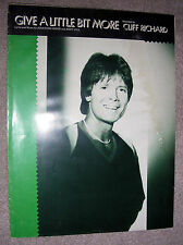 1980 GIVE A LITTLE BIT MORE Sheet Music CLIFF RICHARD by Hodge, Hill