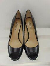c266b405d68 Cathy Jean (BRAND NEW) Black Soft Leather Peep Toe High Heel Platform Pump 8