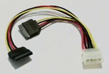 SATA Power Strom Adapter Y Kabel 1x HDD Molex -> 2x SATA Power HDD VKF