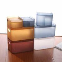 Plastic Storage Box Case Basket Desktop Makeup Bathroom Container Organizer