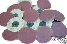 "25PC 3"" INCH ROLOC DISCS 36 GRIT R TYPE SANDING ABRASIVE ROLL LOCK COARSE - NEW!"