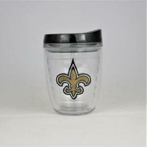 New Orleans Saints NFL Officially Licensed 12oz Logo Patch Tumbler w/Lid