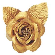 "12 silk roses wedding favor flower corsage gold 2.75"""