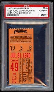 Juan Marichal Win #196 July 31 1970 7/31/70 Phillies Giants Ticket Stub PSA DH