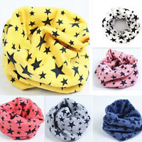 Hot Children's Cotton Scarves Unisex Winter Knitting Stars Collar Neck Warmer