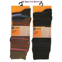 3 / 6 Pack Mens Classic stripe Patterned  Ankle Socks UK Size 7-11 Every day Use
