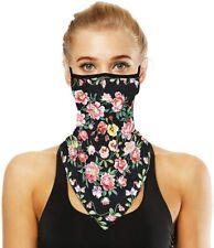 Face Bandana Ear Loops Neck Gaiter Face Scarf Printed Cooling Face Cover Balacla