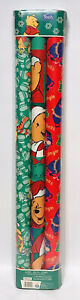 Vintage 1998 Disney Winnie The Pooh Gift Wrapping Paper Christmas Tigger