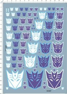 decals Transformers Decepticon for different scales (63387)