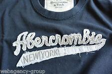 T-Shirt Abercormbie & Fitch - mis. XL - col. Blu logo A&F Bianco