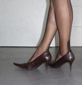 Stiletto sehr spitze Leder High Heels Pumps getragen well worn Sammler Liebhaber