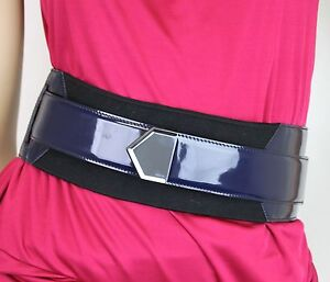 NEW Authentic GUCCI Runway Elastic/Patent Leather Wrap BELT, 75/30, 228549