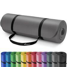 Yogamatte Fitnessmatte Gymnastikmatte Pilates Bodenmatte Grau 190x100x1,5cm