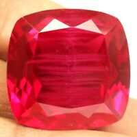 AAA 11.30 Ct. Natural Red Ruby Cushion shape loose certified Gemstone F 1952.