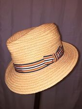 811) NWT auth STETSON woven grass HAT design sample SIZE M retail:  $129-$299