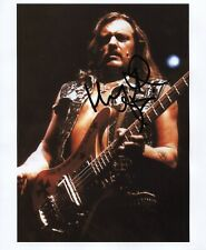 Lemmy Kilmister Motorhead Signed 8 x 10 Genuine In Person Photo + Hologram COA