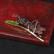 Grasshopper Insect Shape Lapel Pin Fashion Jewelry Brooch Popular Accessories