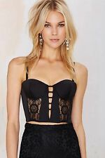 Nasty Gal Crazy for You Lace Bustier Size L