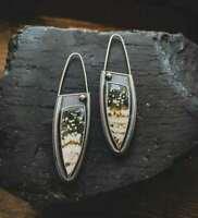 Vintage Women 925 Silver Gemstone Dangle Drop Ear Party Jewelry Earrings Lady