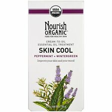 Nourish Organic Skin Cool Peppermint + Wintergreen All-Natural Cream to Oil Nib