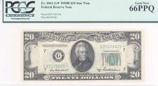 $20 Fed Res Note, 1950B, FR2061-G*, Priest-Anderson, PCGS Gem New 66PPQ **STAR**