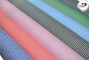 "Stripes Premium Printed Polycotton Fabric Strips Print 44"" Wide High Quality"