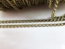 2 Metres x Iron Twist Chain 5mm x 3mm Antique Bronze NF & LF Chains Findings