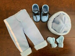 American Girl Doll Winter Outfit (hat gloves pants boots) by Battat