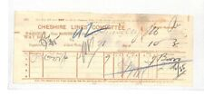 BC191 1892 GB Cheshire Lines Committee Parcel Way Bill {samwells} PTS