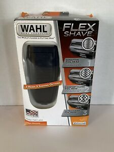 New In Box Wahl Flex Shave Rechargeable Foil Shaver 3 Heads 3 Shaving Options