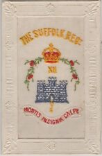 WW1 Military - Embroidered Silk for The Suffolk Regiment c.1918