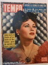 TEMPO 12 21 Marzo 1953 Yvonne De Carlo Stalin Jorgensen Clelia Calvi Plozzer di