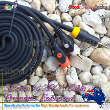 Enhanced 3.5mm Plug To 2 RCA M Stereo Audio Cable for iPod iPhone Samsung 1.8M
