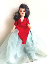 "Vintage 1950's 7 1/2"" Doll ~ Orange Sleepy Eyes ~ Home Made Clothes"