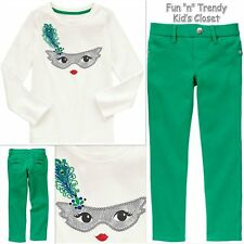 NWT Gymboree WILD FOR HORSES Girls Size 4 Pants & Tee Shirt Top 2-PC OUTFIT SET