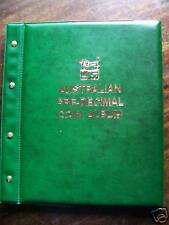 VST AUSTRALIAN PRE-DECIMAL 1910-1964 COIN ALBUM GREEN COLOUR BINDER + Mintages