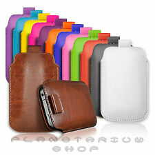PREMIUM PU LEATHER PULL TAB CASE COVER POUCH FOR APPLE IPHONE 5 SCREEN PROTECTOR