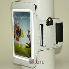 Fascia Da Braccio Per Samsung Galaxy S4 S3 Custodia Sport Corsa Armband Bianco
