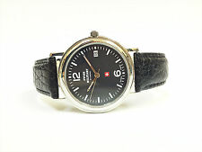 Swiss Military by Chrono 20010ST-1L SS Case Black Leather Band Women's Watch