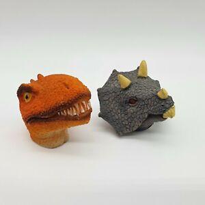 Dinosaur Head Ornaments x 2 Triceratops Small