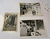 lotto 3 foto originali 1960/70 con MOTO SCOOTER o MOTOAPE ben visibili BELLE