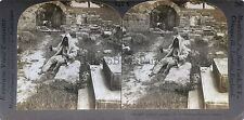 Grèce Greece Olympie Stade Olympique Stereo Vintage Argentique Silver Print