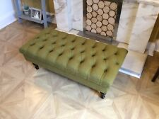 Olive colour stool footstool chesterfield coffee table  blue, latte, grey ***