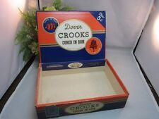 Vtg Dover CROOKS Cured in Rum Cigar box. Dover, PA
