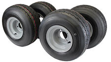 18x8.50-8 with 8x7 Gray Wheel Assembly (Set of 4) for Golf Cart and Lawn Mower