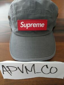 Supreme Military Camp Cap Grey SS21 Box Logo