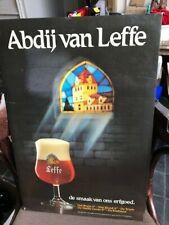 abdij van Leffe reclame beer sign karton not new de smaak van ons erfgoed 1986